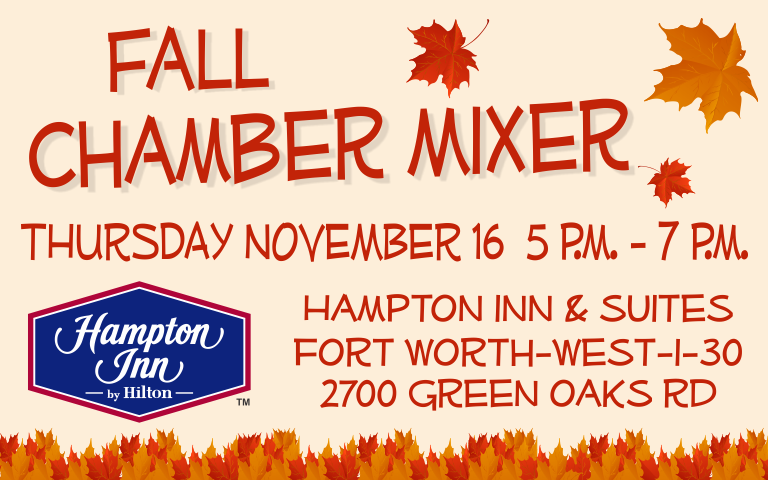 White Settlement Area Chamber of Commerce Fall Chamber Mixer hosted by Hampton Inn & Suites Fort Worth West I-30
