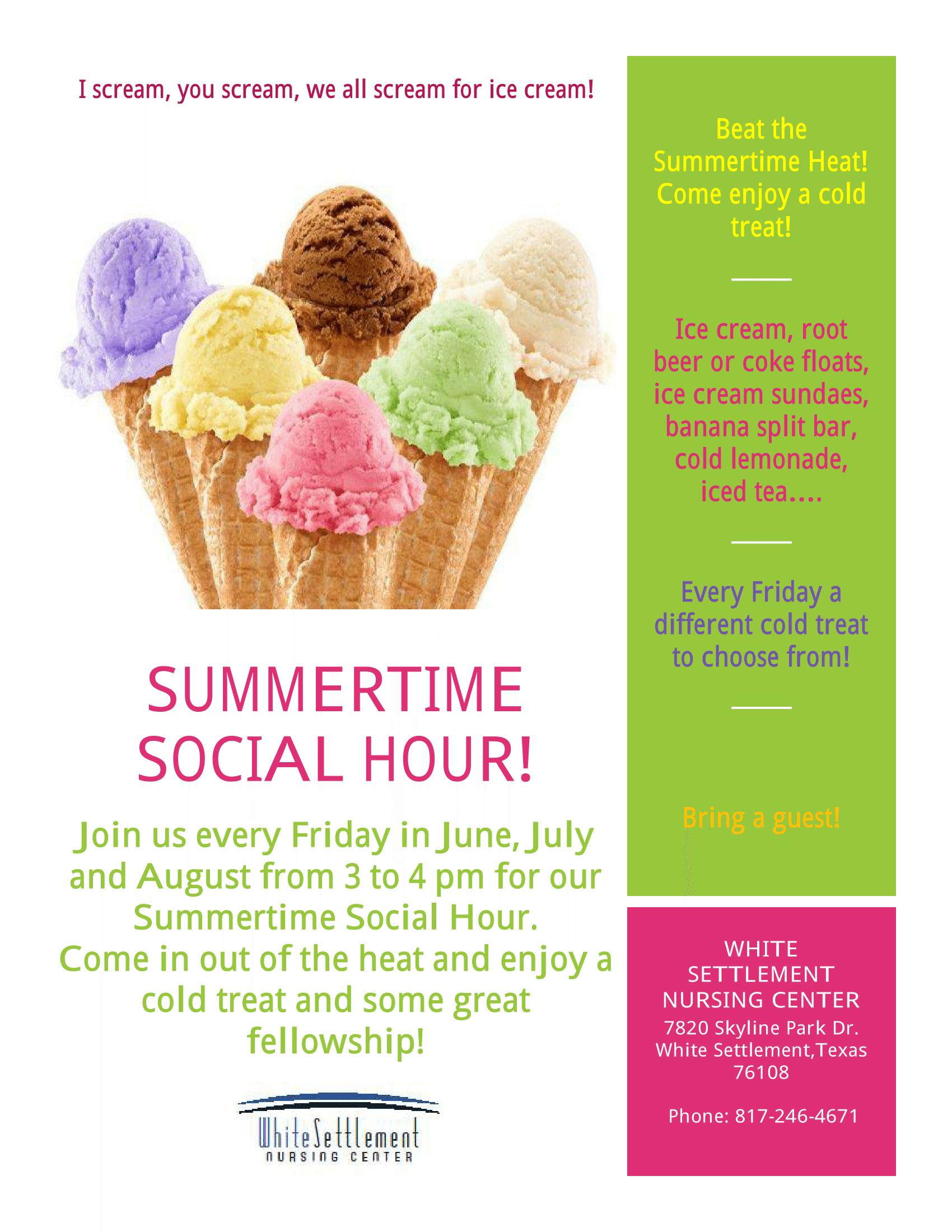 White Settlement Nursing Center Summer Social Hour