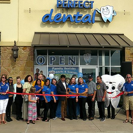 Perfect Dental Ribbon Cutting