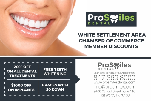ProSmiles Dental Special Offers for WSACC Membership