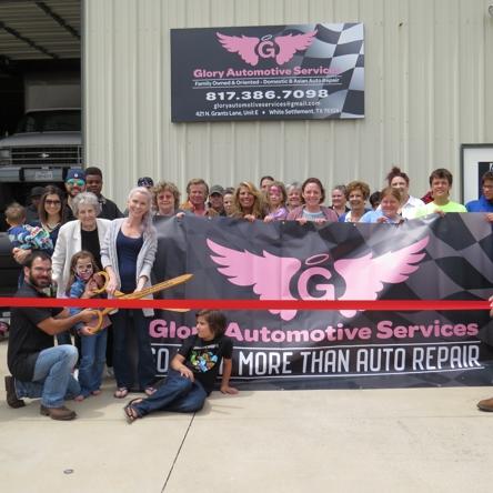 Ribbon Cutting – Glory Automotive Services   White ...