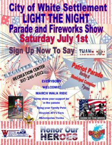 Light The Night Parade and Fireworks Show July 1,2017