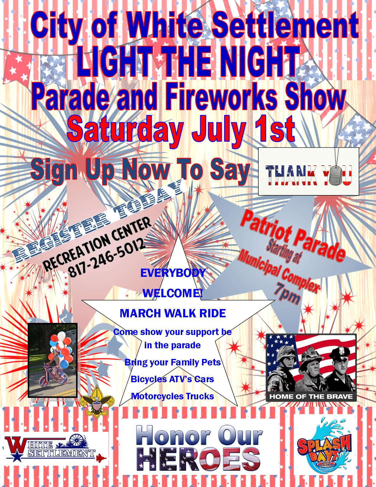Light The Night – Parade and Fireworks Show