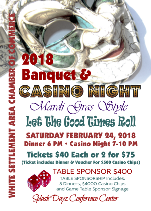 WSACC Banquet & Casino Night @ Splash Dayz WaterPark Conference Center | White Settlement | Texas | United States