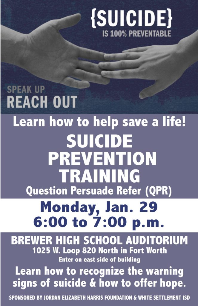 Suicide Prevention Training @ C. F. Brewer High School Auditorium | Fort Worth | Texas | United States