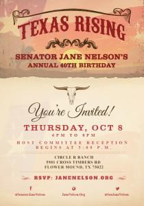 Jane Nelsons Annual 40th Birthday-2015 Texas Rising