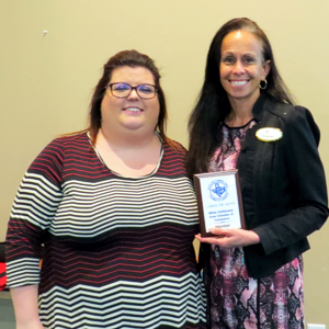 WSACC President JoAnna Kimbrell and new chamber member Stacy McCaffrey, Realtor (3-2018)
