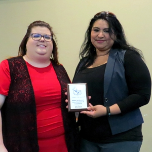 WSACC President JoAnna Kimbrell presented Rebeca Ornales with her membership plaque at the April 2018 General Meeting