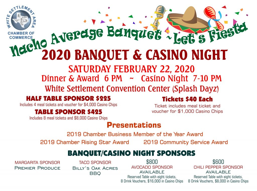 WSACC Banquet & Casino Night @ /white Settlement Convention Center (Splash Dayz) | White Settlement | Texas | United States