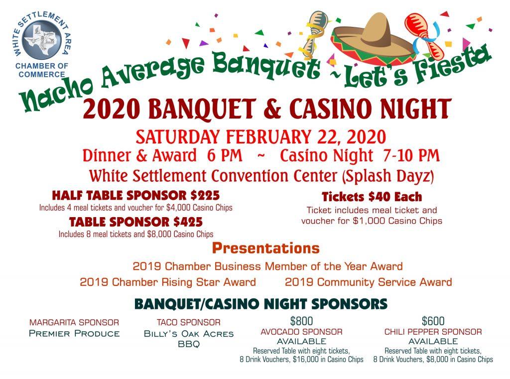 WSACC Banquet & Casino Night @ /white Settlement Convention Center (Splash Dayz) | White Settlement | Texas | United States