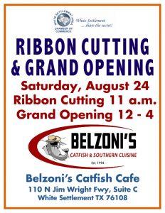 Ribbon Cutting @ Belzoni's Catfish Cafe | White Settlement | Texas | United States